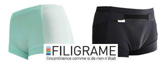 FILIGRAME : des sous-vêtements adaptés à l'incontinence
