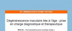 Diagnostic et prise en charge de la DMLA