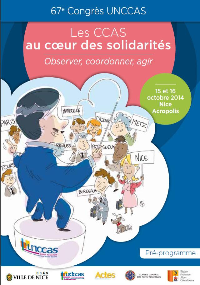 Le 67ème congrès de l'UNCCAS se tiendra à Nice les 15 et 16 octobre 2014