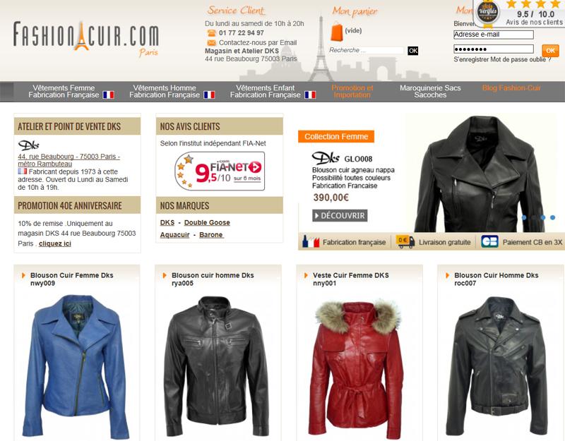 Mode cuir : des blousons et des vestes Made In France sur Fashion-cuir.com