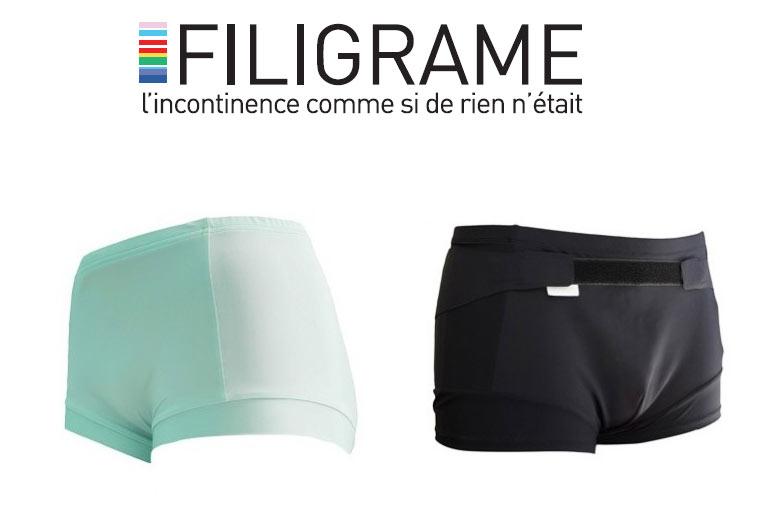 FILIGRAME : des sous-vêtements éco-conçus de fabrication 100% française qui viennent en aide aux personnes souffrant de problèmes d'incontinence
