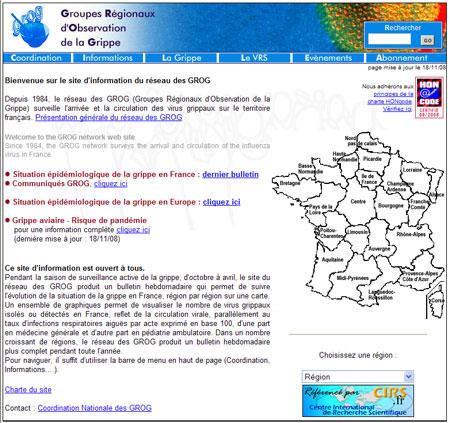 La grippe saisonnière est arrivée en France (décembre 2008)