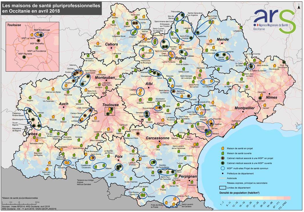 106 maisons de santé ont déjà ouvert leurs portes dans tous les territoires de la région Occitanie