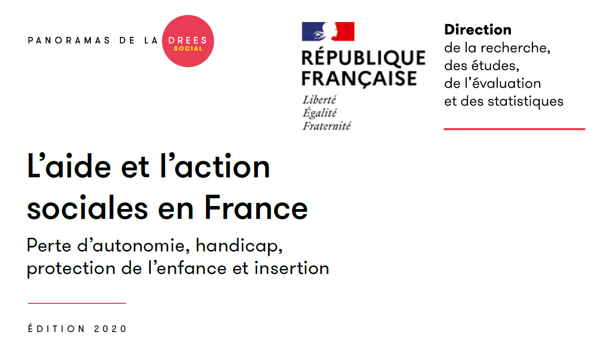 Edition 2020 du panorama annuel de la Dress sur L'aide et l'action sociales en France