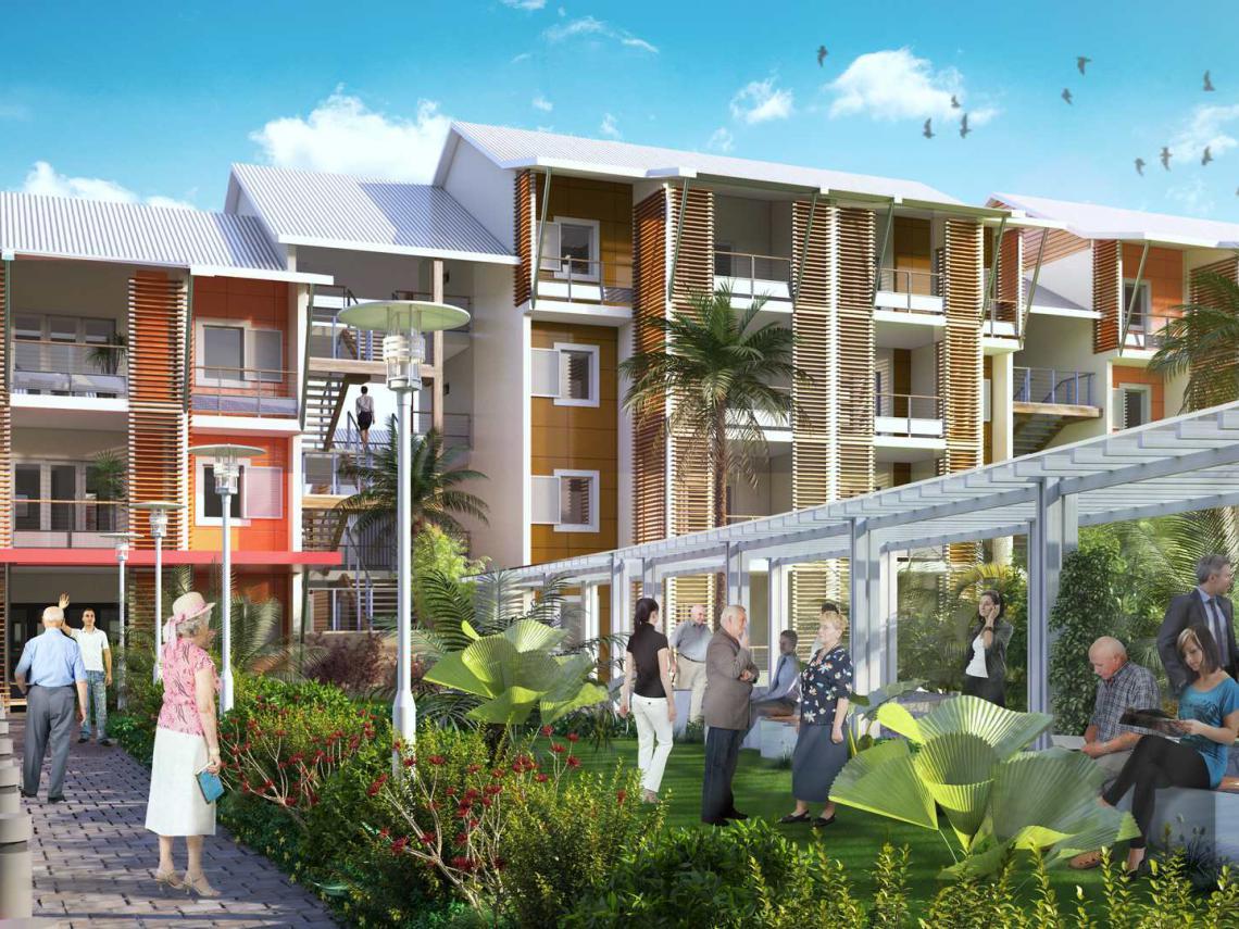 Livraison de la première résidence senior Senioriales à l'Île de La Réunion, à Sainte Marie, au cœur de la nouvelle ville de Beauséjour #RésidenceSenior #LaRéunion #cboterritoria @senioriales ?