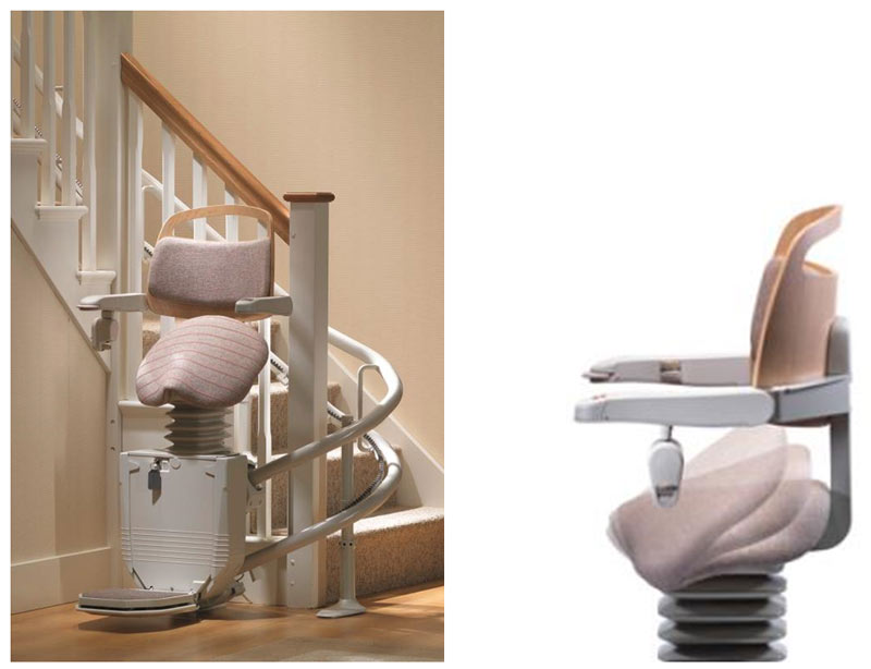 Escalier Stannah. Indoor Chair Stair Lift Rotating Flow Vital With