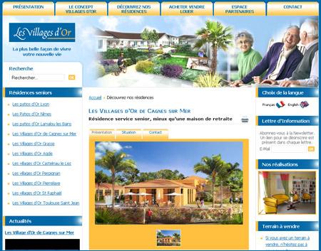 Les Villages d'or , une résidence Sénior à Cagnes Sur Mer