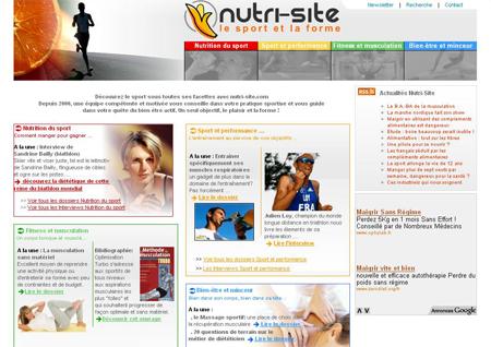 www.nutri-site.com, le site internet du sport et de la forme, fait peau neuve