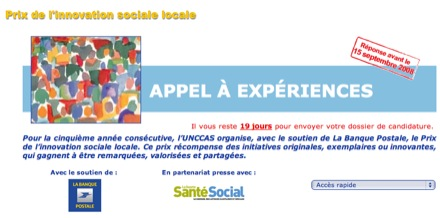Plus que quelques jours pour participer au Prix de l'innovation sociale locale 2008 !