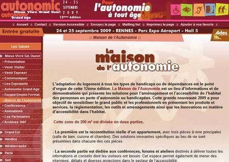Autonomic mieux vivre grand ouest rennes 2009 salon pour for Salon autonomic rennes