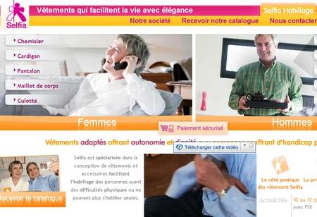 Selfia: habillage pour personnes en perte de mobilité