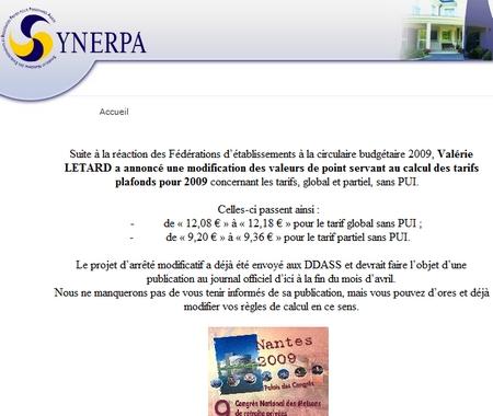 Synerpa  régit au Sondage FHF-TNS Sofres