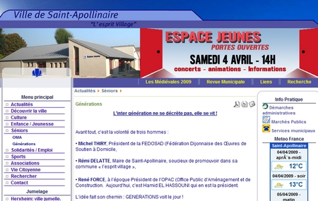 Guide des maisons de retraite avec Capgeris, portail d'information pour les  personnes agées : La résidence Générations