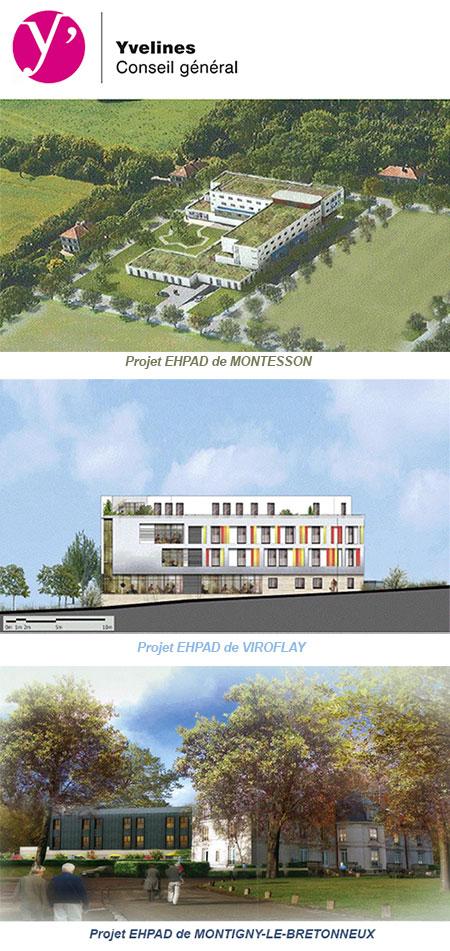 Le Conseil général des Yvelines et l'ARS d'Ile-de-France ont sélectionné 3 projets d'EHPAD
