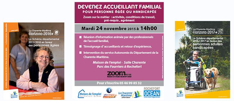 24 novembre 2015 : le département Charente Maritime propose une journée d'information sur le métier d'accueillant familial
