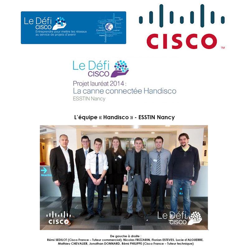 Le projet « Handisco » remporte la 1ère édition du Défi Cisco