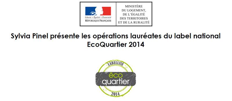Guide des maisons de retraite avec Capgeris, portail d'information pour les  personnes agées : Campagne 2014 de labellisation nationale ÉcoQuartier