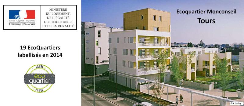 Un projet d'EHPAD à Tours dans l'EcoQuartier Monconseil