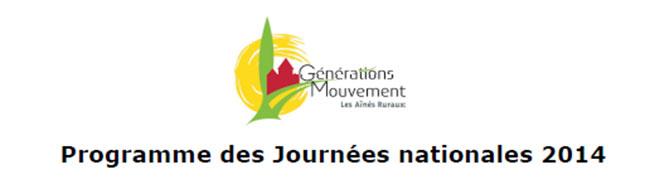 Programme des Journées nationales 2014