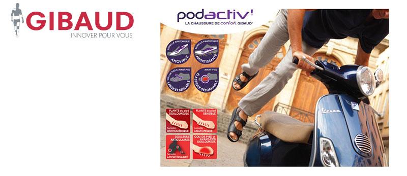 GIBAUD lance sa gamme de chaussures de confort PODACTIV