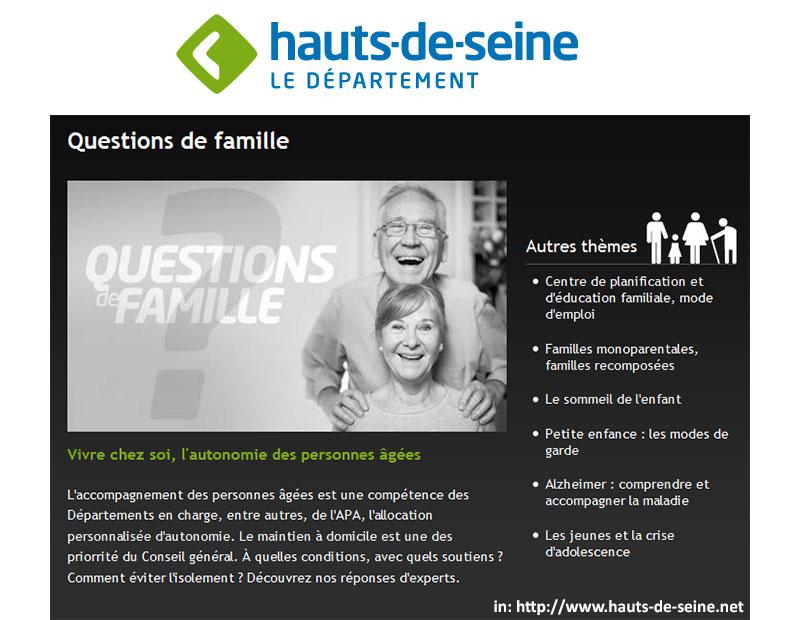 questions de famille vivre chez soi l 39 autonomie des personnes g es sur le portail du. Black Bedroom Furniture Sets. Home Design Ideas