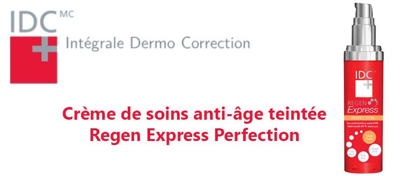 Laissez-vous séduire par la crème de soins anti-âge teintée Regen Express Perfection