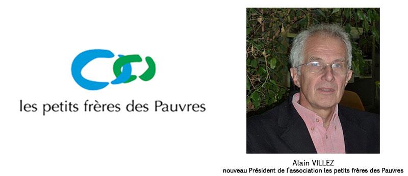 Alain Villez, nouveau Président de l'association les petits frères des Pauvres