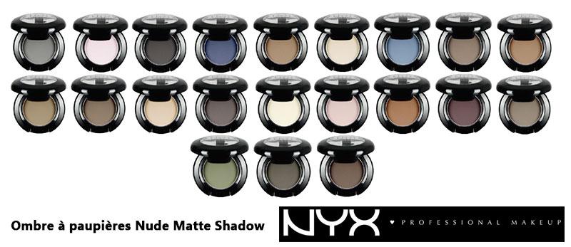 Habillez vos yeux de velours avec les nouvelles ombres Nude Matte Shadow de NYX Cosmetics