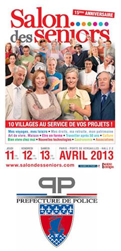 Au salon des seniors du 11 au 13 avril 2013 conseil - Prefecture de police de paris bureau des associations ...
