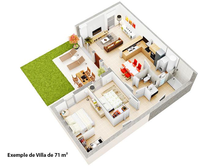 investir pollestres dans les pyr n es orientales dans une villa t3 au sein d 39 un village pour. Black Bedroom Furniture Sets. Home Design Ideas