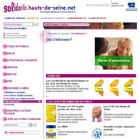 Les onze CLIC des Hauts-de-Seine oeuvrent pour les personnes âgées du département